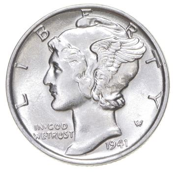 CH Unc 1941 Mercury Liberty Dime - 90% Silver - From an Original Roll!