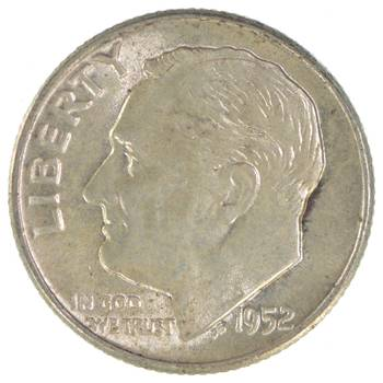 Ch Unc 1952 Roosevelt 90% Silver United States Dime