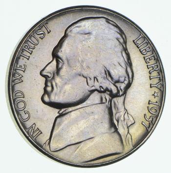 CH Unc 1957-D Early Jefferson Nickel