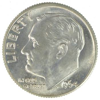 Ch Unc 1964-D Roosevelt 90% Silver United States Dime