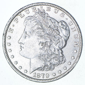 Choice AU/UNC - 1879-O Morgan Silver Dollar - 90% Silver - New Orleans Minted US Coin
