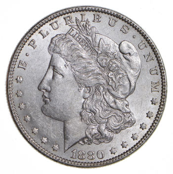 Choice AU/UNC - 1880-O Morgan Silver Dollar - 90% Silver - New Orleans Minted US Coin