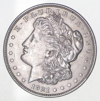 Choice AU/Unc 1921 Morgan Silver Dollar