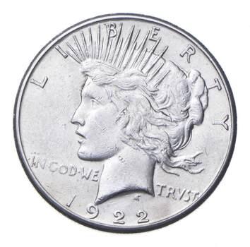 Choice AU/UNC 1922-S Peace Silver Dollar - 90% Silver