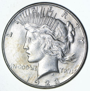 Choice AU/UNC - 1923-S Peace Silver Dollar - Minted in San Francisco