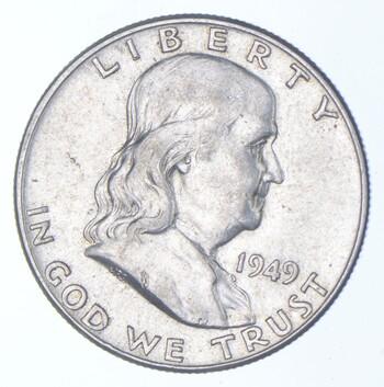 Choice AU/Unc BU 1949 Franklin Half Dollar - 90% Silver