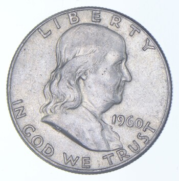 Choice AU/Unc BU 1960 Franklin Half Dollar - 90% Silver