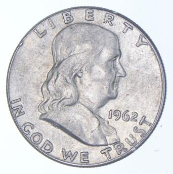 Choice AU/Unc BU 1962 Franklin Half Dollar - 90% Silver