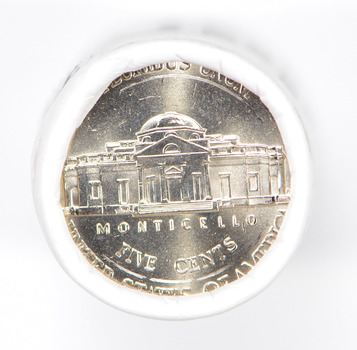 CHOICE BU- 2006! Special Wrapped - Brilliant Uncirculated Jefferson Nickel Roll - Denver Minted