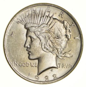 Choice - Gem BU Unc - 1922 Peace Silver Dollar -- 90% Silver