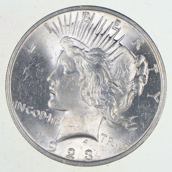 Choice - Gem BU Unc - 1923 Peace Silver Dollar -- 90% Silver