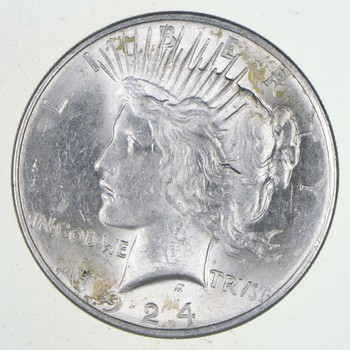 Choice - Gem BU Unc - 1924 Peace Silver Dollar -- 90% Silver