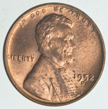 Choice Unc 1952-D Lincoln Wheat Cent - Cherry!