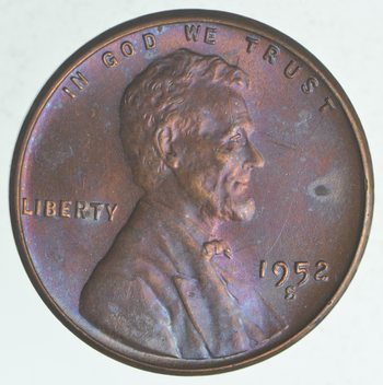 Choice Unc 1952-S Lincoln Wheat Cent - Cherry!