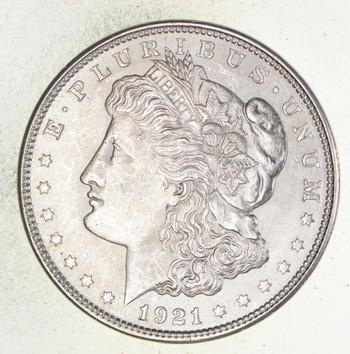 Choice Unc BU 1921 Morgan Silver Dollar - 90% $1.00