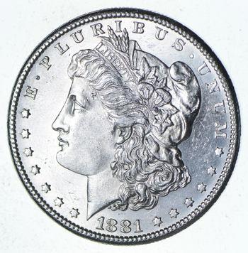 Choice Uncirculated 1881-S Morgan Silver Dollar - $1.00 Mint State MS BU