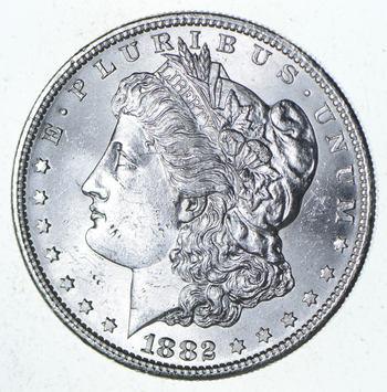 Choice Uncirculated 1882-S Morgan Silver Dollar - $1.00 Mint State MS BU