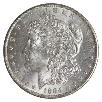Choice Uncirculated 1884-O Morgan Silver Dollar - Blast WHITE