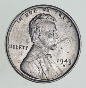 Choice Uncirculated - 1943-D - STEEL CENT - Lincoln Wheat Cent - Historic