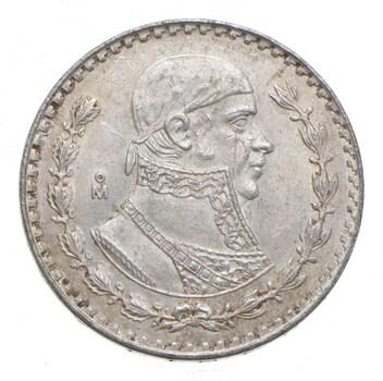 Choice Uncirculated - 1962 Mexico Mexican Un Peso Silver Coin - LARGE