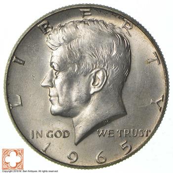 Choice Uncirculated - 1965 40% Silver Kennedy Half Dollar Blast White - Sweet