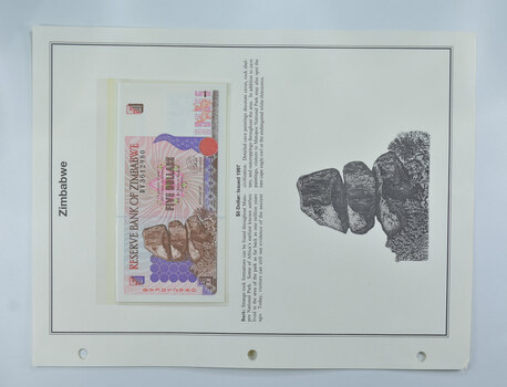Colorful - Bank Note(s) from Zimbabwe - Interesting History!