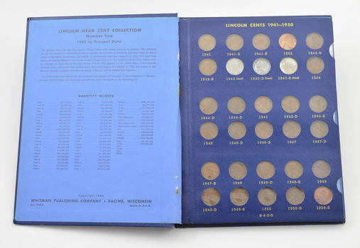 COMPLETE 1941-58 Lincoln Wheat Cent Set - Includes Steel Cents - NICE Album
