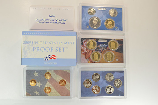 Complete 2009-S Deep Cameo Proof Set - 18 Coins Including Four Presidential Dollars