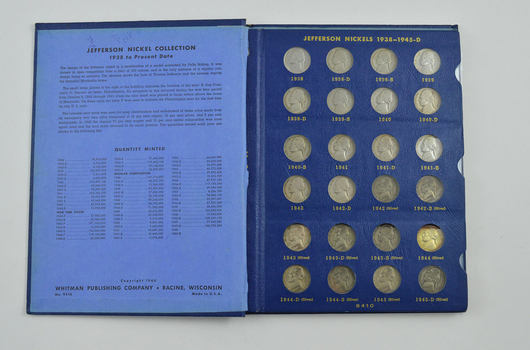 COMPLETE SET - 1938-63 Jefferson Nickels Collection SILVER War 1950-D - Nice Album