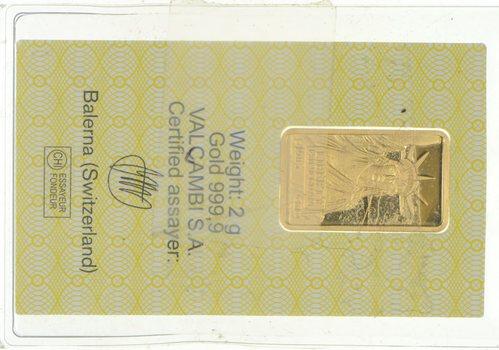 Credit Suisse 2 Grams Gold Bar
