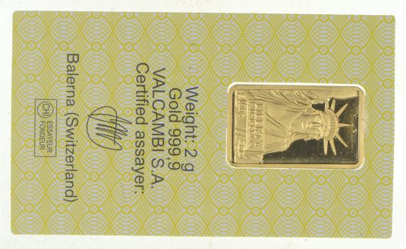 Credit Suisse 2 Grams Gold Bar