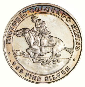 Cripple Creek Colorado 22.5 Grams .999 Fine Silver Casino Token