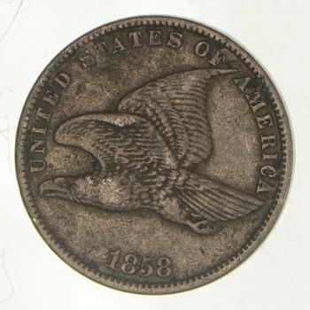 CRISP - 1858 - Flying Eagle United States Cent - RARE