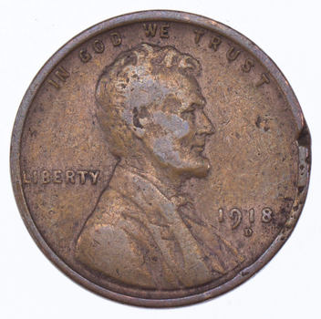 Crisp - 1918-D Lincoln Wheat Cent - Tough - Denver  Minted