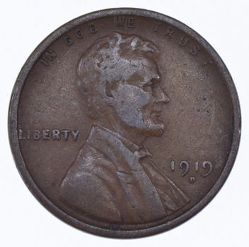 Crisp - 1919-D Lincoln Wheat Cent - Early - Denver Minted