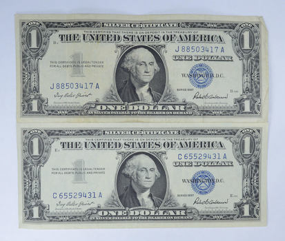Crisp 1935 & 1957 $1.00 Silver Certificate