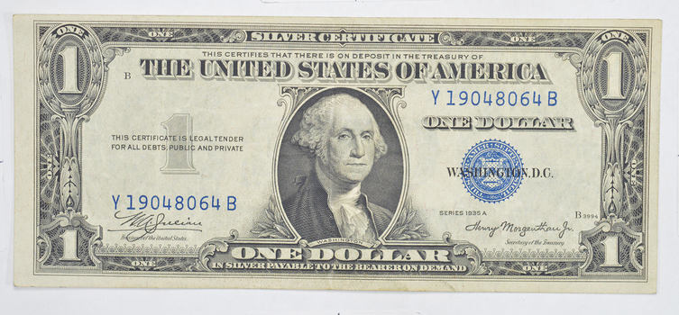 Crisp - 1935-A United States Dollar Currency $1.00 Silver Certificate