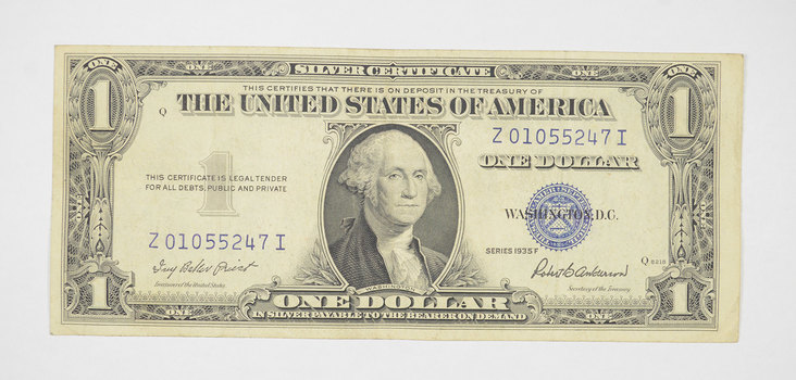 Crisp - 1935-F United States Dollar Currency $1.00 Silver Certificate