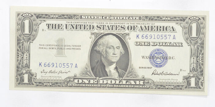 Crisp - 1957 United States Dollar Currency $1.00 Silver Certificate