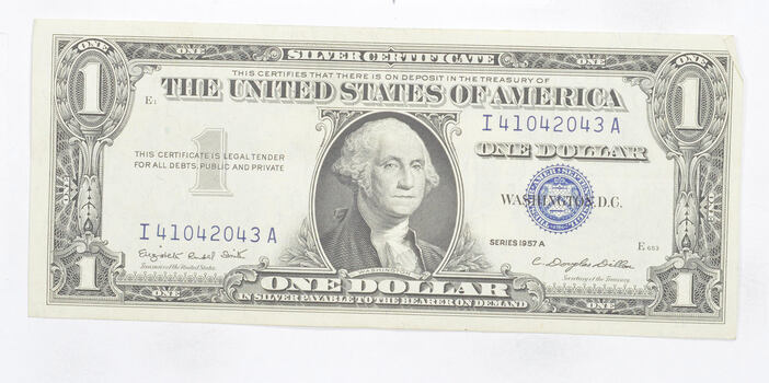 Crisp - 1957-A United States Dollar Currency $1.00 Silver Certificate