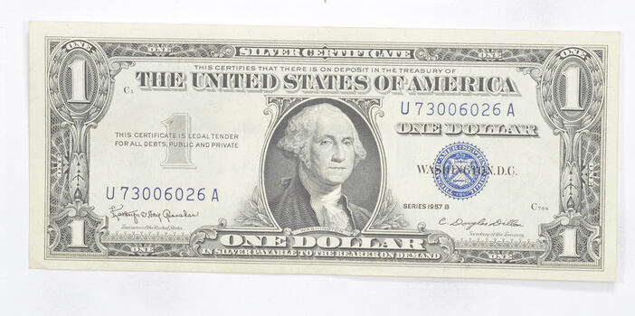 Crisp - 1957-B United States Dollar Currency $1.00 Silver Certificate