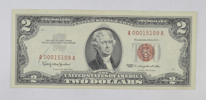 Crisp 1963 Red Seal $2.00 United States Note - Better Grade