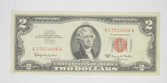 Crisp 1963-A Red Seal $2.00 United States Note - Better Grade