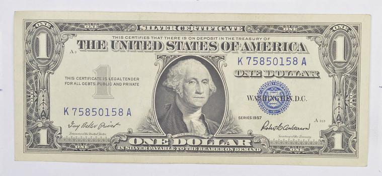 Crisp Unc 1957 $1.00 Silver Certificate Notes - BRAND NEW US Dollar