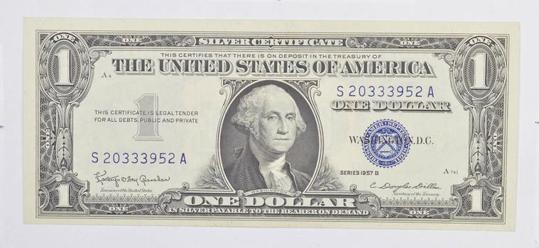 Crisp Unc 1957-B $1.00 Silver Certificate Notes - BRAND NEW US Dollar