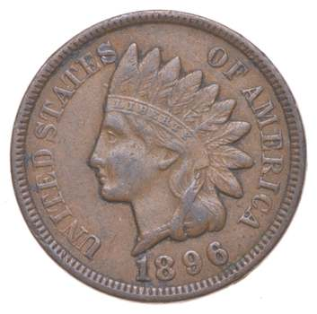 """Detailed """"Liberty"""" 1896 Indian Head Cent - Great Condition!"""