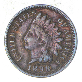 "Detailed ""Liberty"" 1898 Indian Head Cent - Great Condition!"