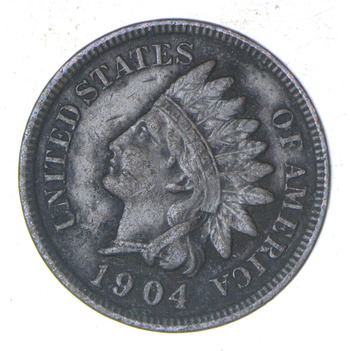 "Detailed ""Liberty"" 1904 Indian Head Cent - Great Condition!"