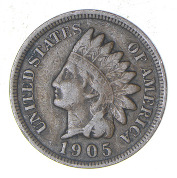 """Detailed """"Liberty"""" 1905 Indian Head Cent - Great Condition!"""
