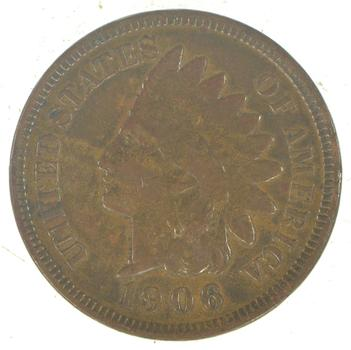 "Detailed ""Liberty"" 1906 Indian Head Cent - Great Condition!"